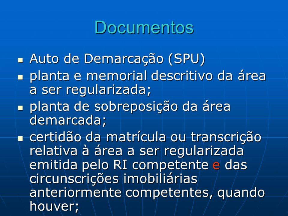 Documentos Auto de Demarcação (SPU)