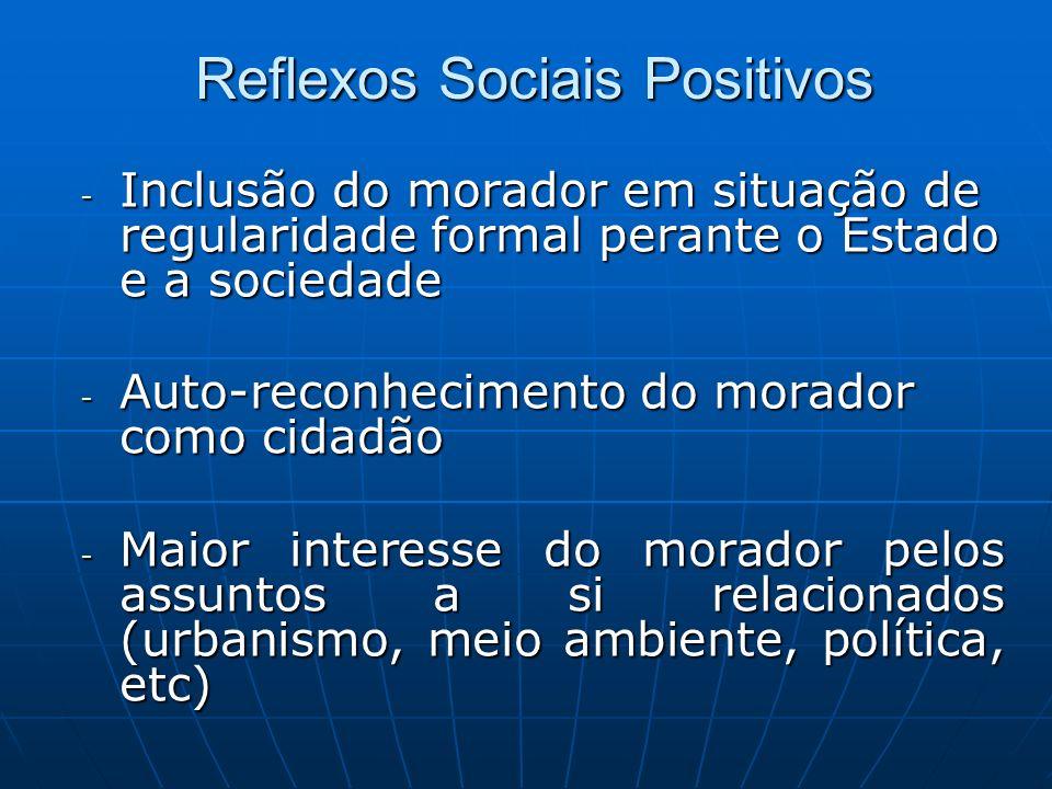 Reflexos Sociais Positivos