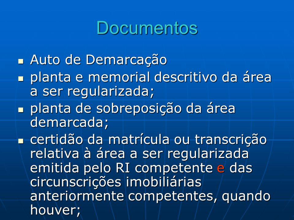 Documentos Auto de Demarcação