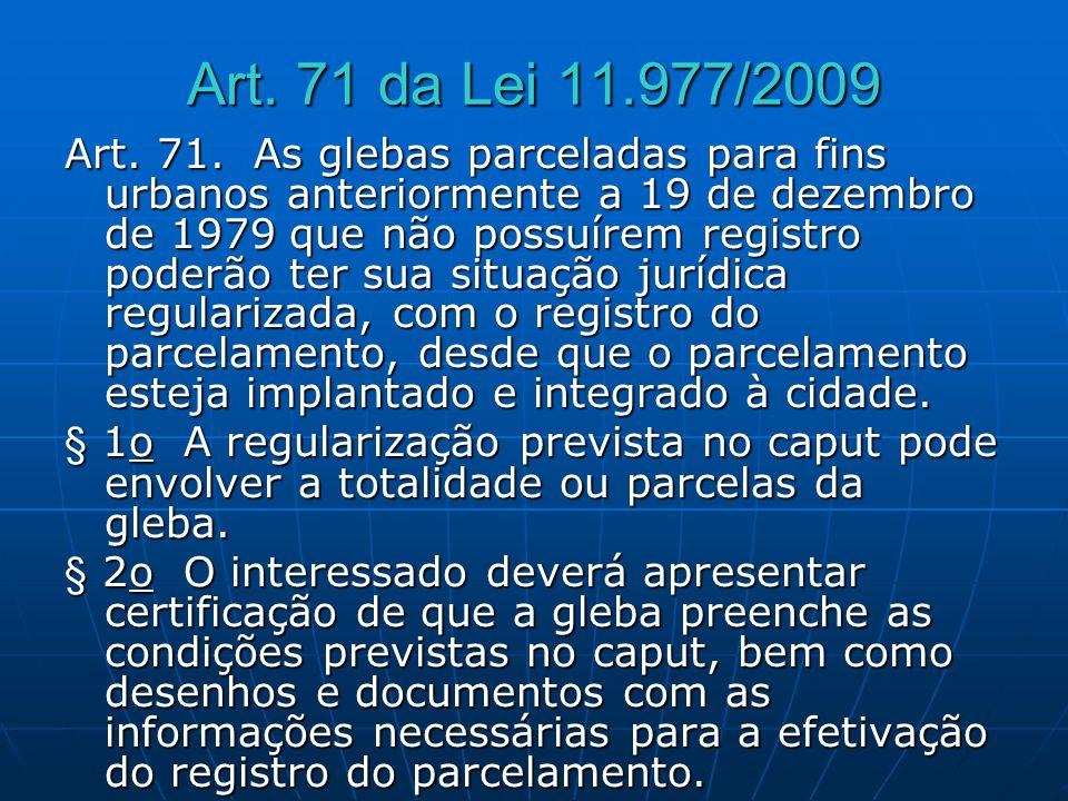 Art. 71 da Lei 11.977/2009