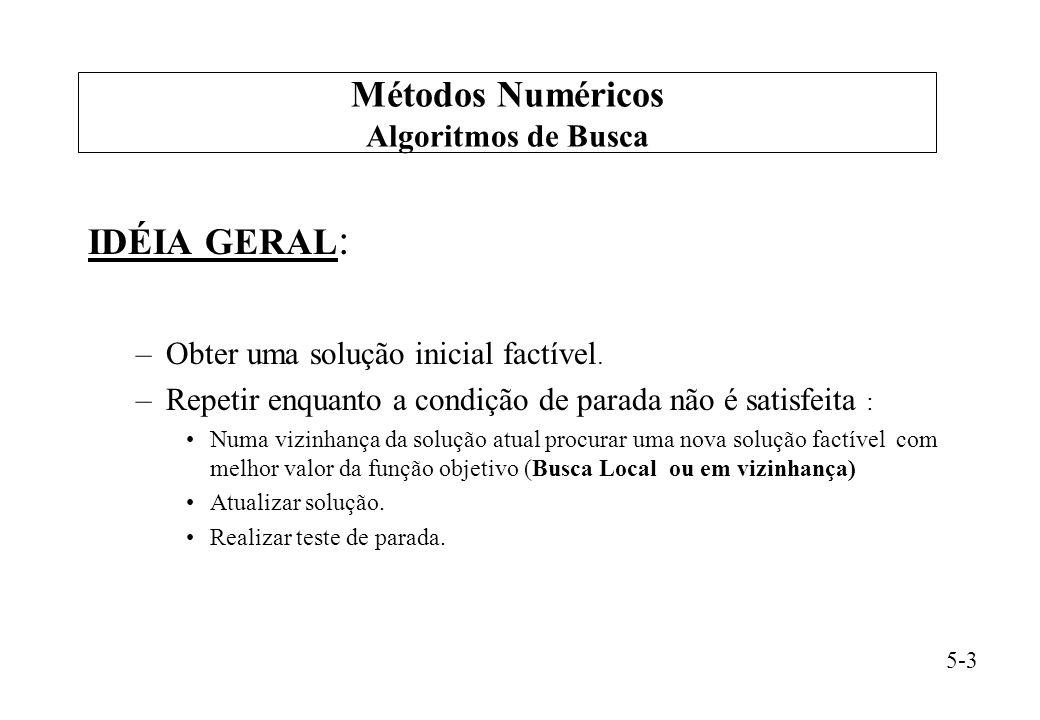 Métodos Numéricos IDÉIA GERAL: Algoritmos de Busca