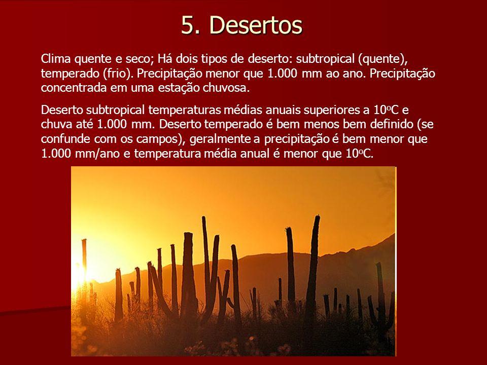 5. Desertos