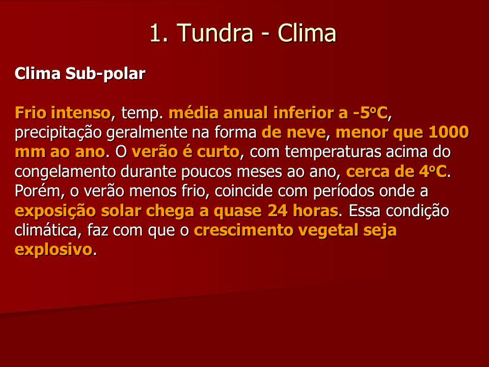 1. Tundra - Clima Clima Sub-polar