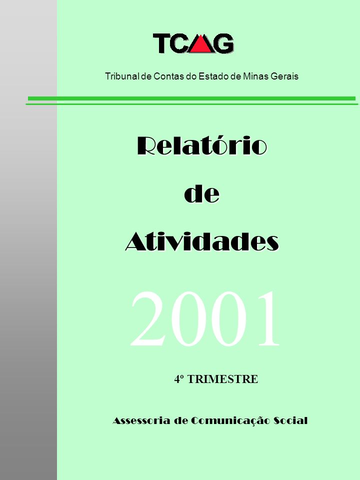 2001 Relatório de Atividades 4º TRIMESTRE