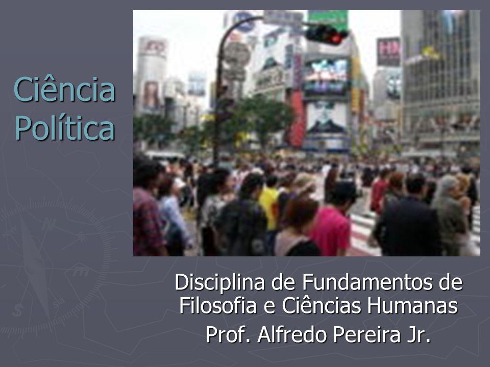 Ciência Política Disciplina de Fundamentos de Filosofia e Ciências Humanas.