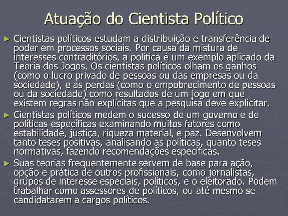 Atuação do Cientista Político