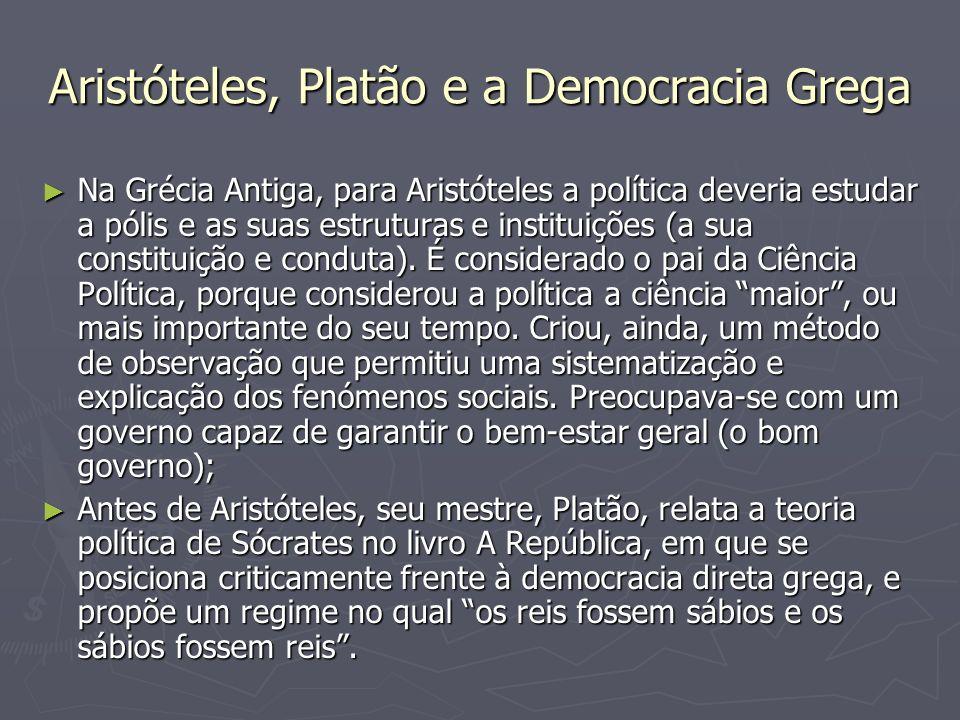 Aristóteles, Platão e a Democracia Grega