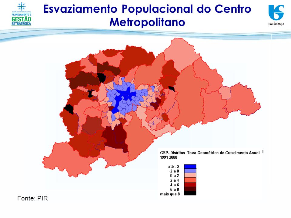 Esvaziamento Populacional do Centro Metropolitano