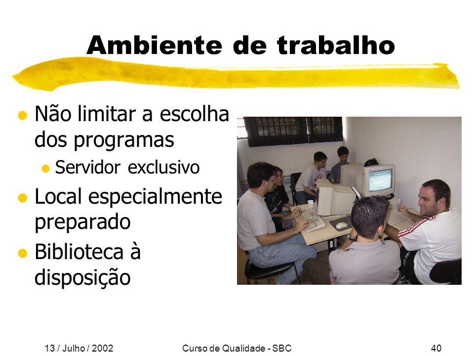Curso de Qualidade - SBC