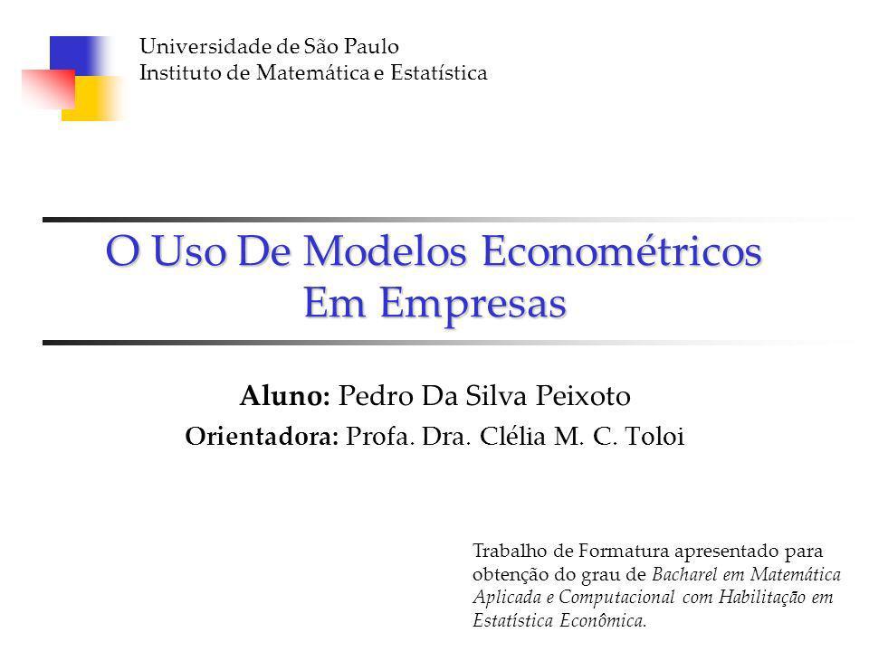 O Uso De Modelos Econométricos Em Empresas