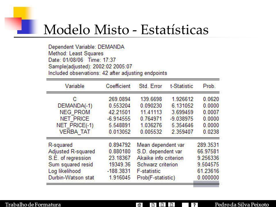 Modelo Misto - Estatísticas