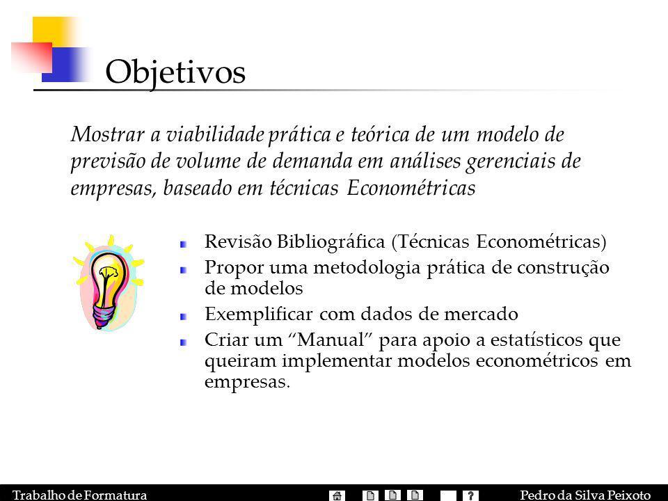 Objetivos Revisão Bibliográfica (Técnicas Econométricas)