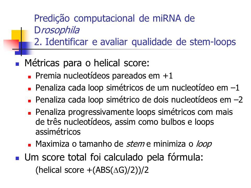 Métricas para o helical score: