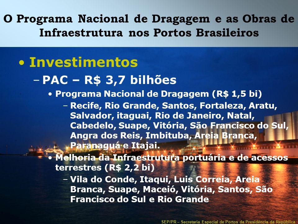 O Programa Nacional de Dragagem e as Obras de Infraestrutura nos Portos Brasileiros