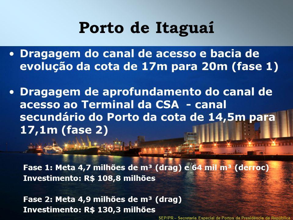 Porto de Itaguaí Dragagem do canal de acesso e bacia de evolução da cota de 17m para 20m (fase 1)