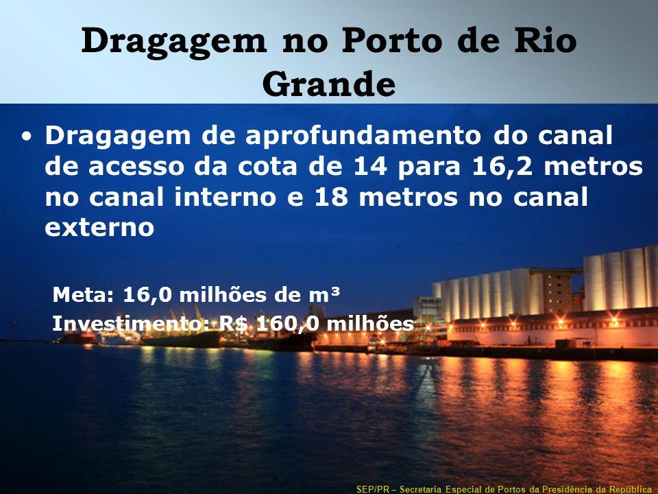 Dragagem no Porto de Rio Grande