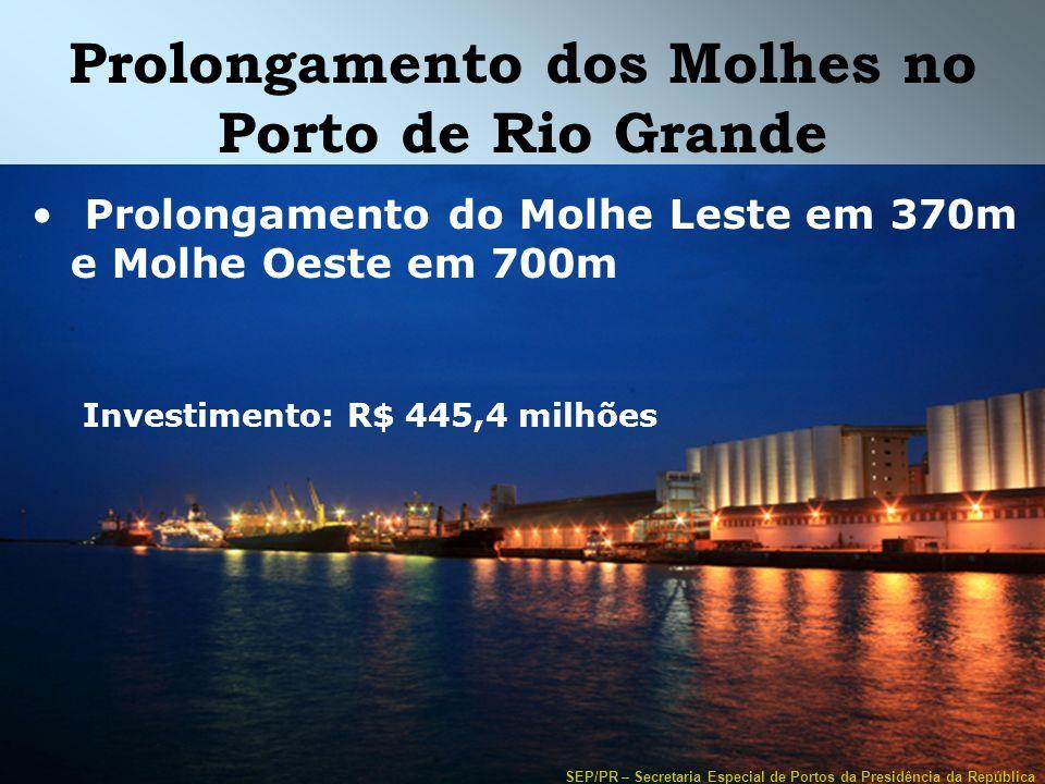 Prolongamento dos Molhes no Porto de Rio Grande
