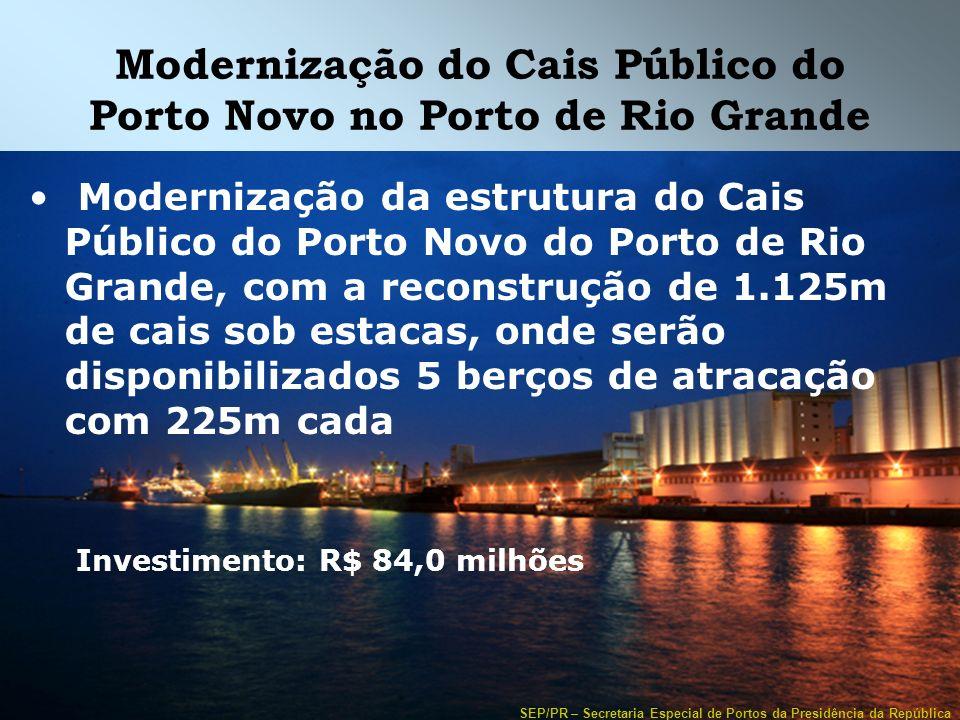 Modernização do Cais Público do Porto Novo no Porto de Rio Grande
