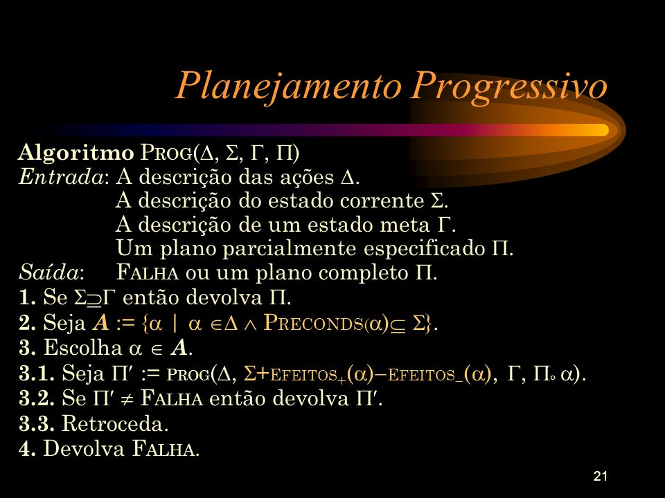 Planejamento Progressivo