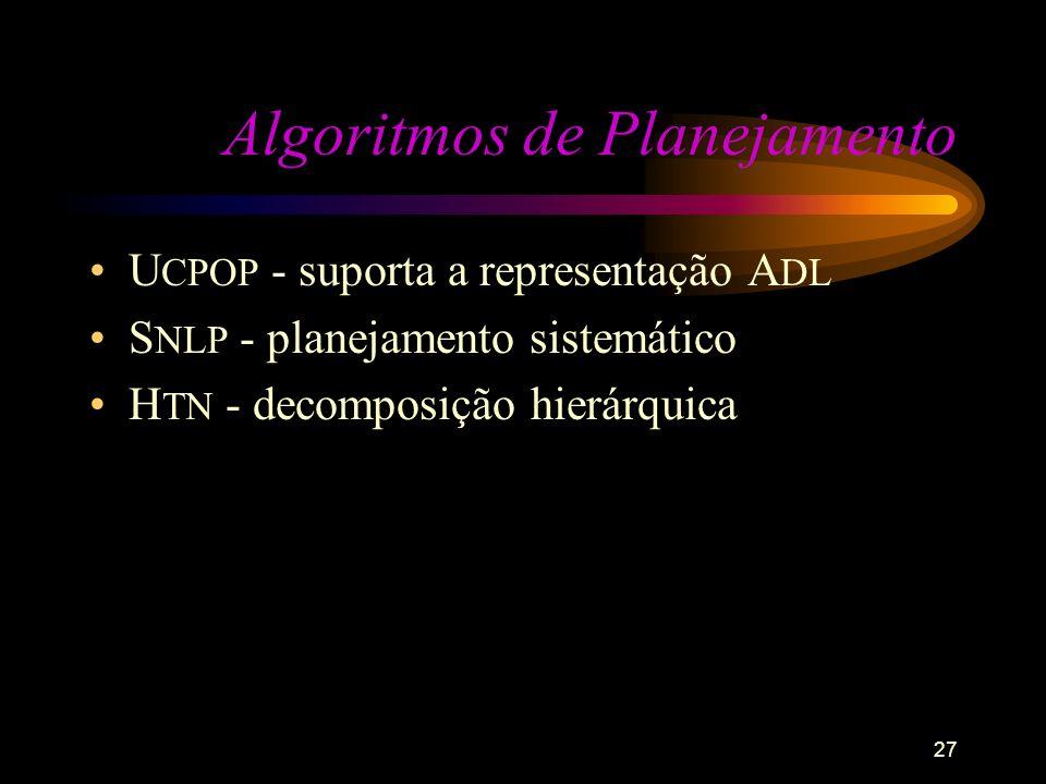 Algoritmos de Planejamento