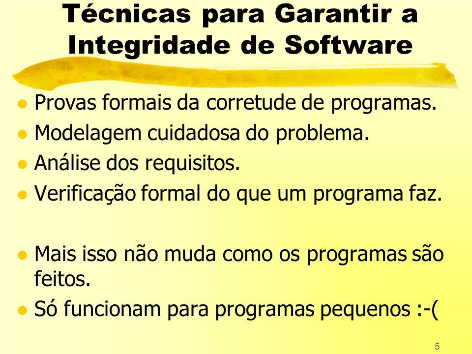 Técnicas para Garantir a Integridade de Software