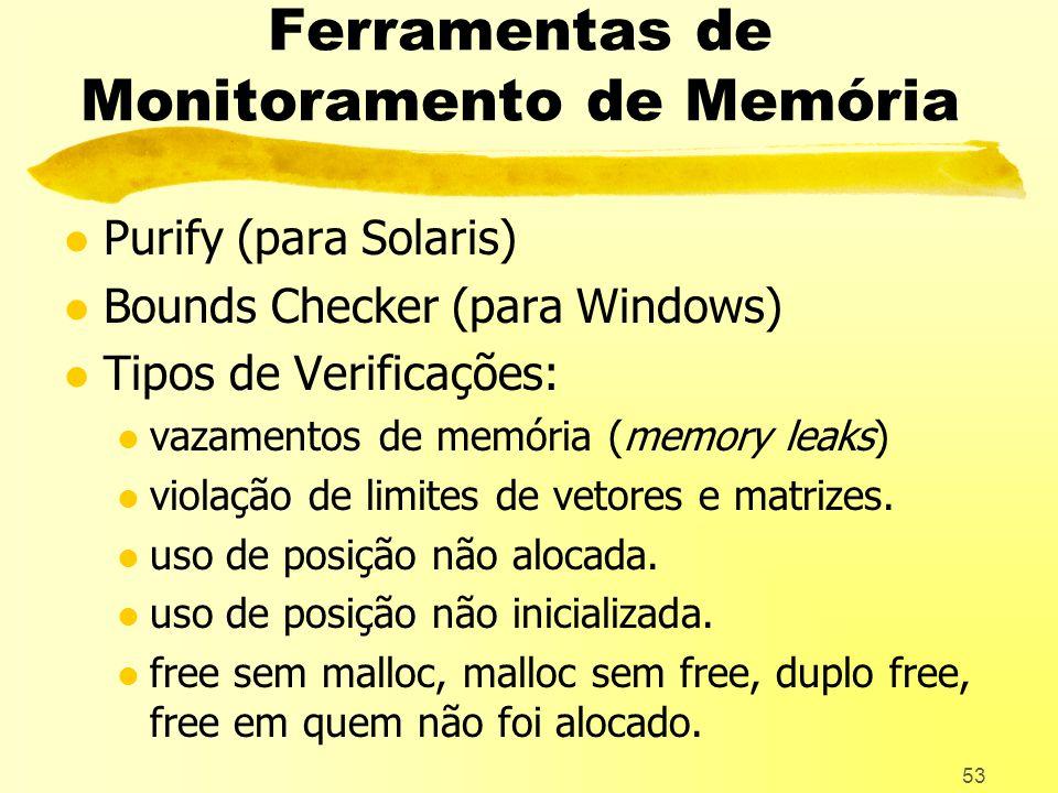 Ferramentas de Monitoramento de Memória