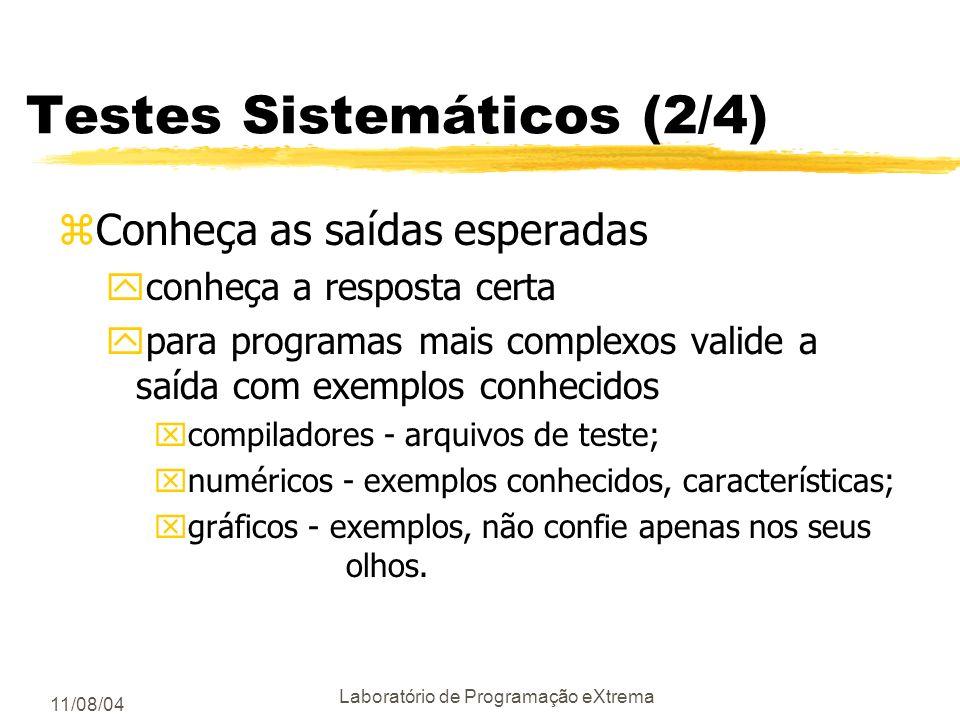 Testes Sistemáticos (2/4)