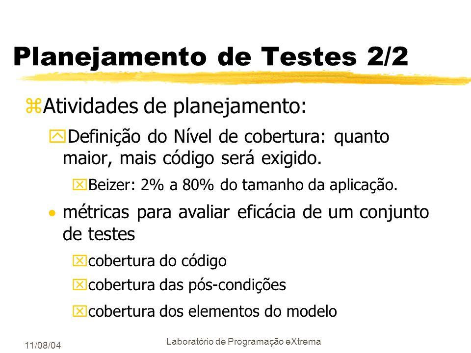 Planejamento de Testes 2/2