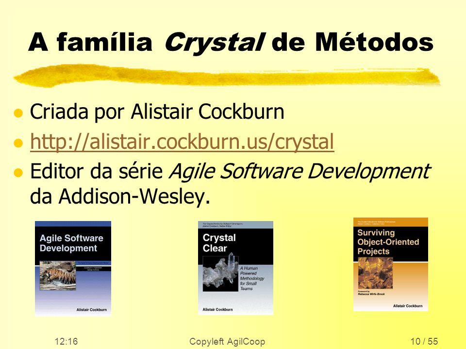 A família Crystal de Métodos
