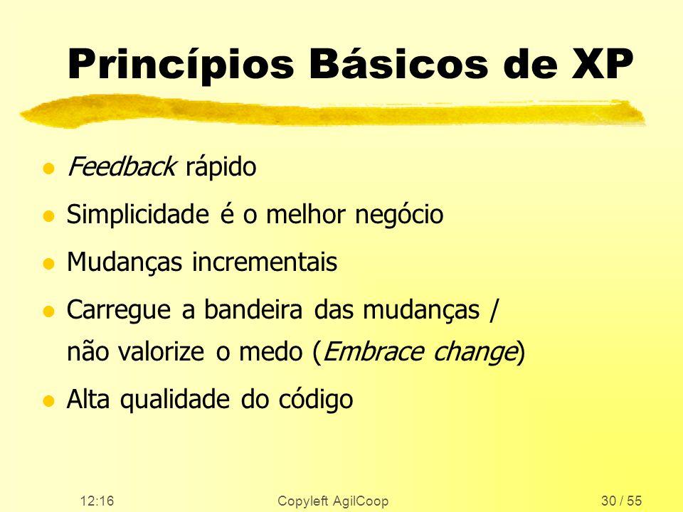 Princípios Básicos de XP