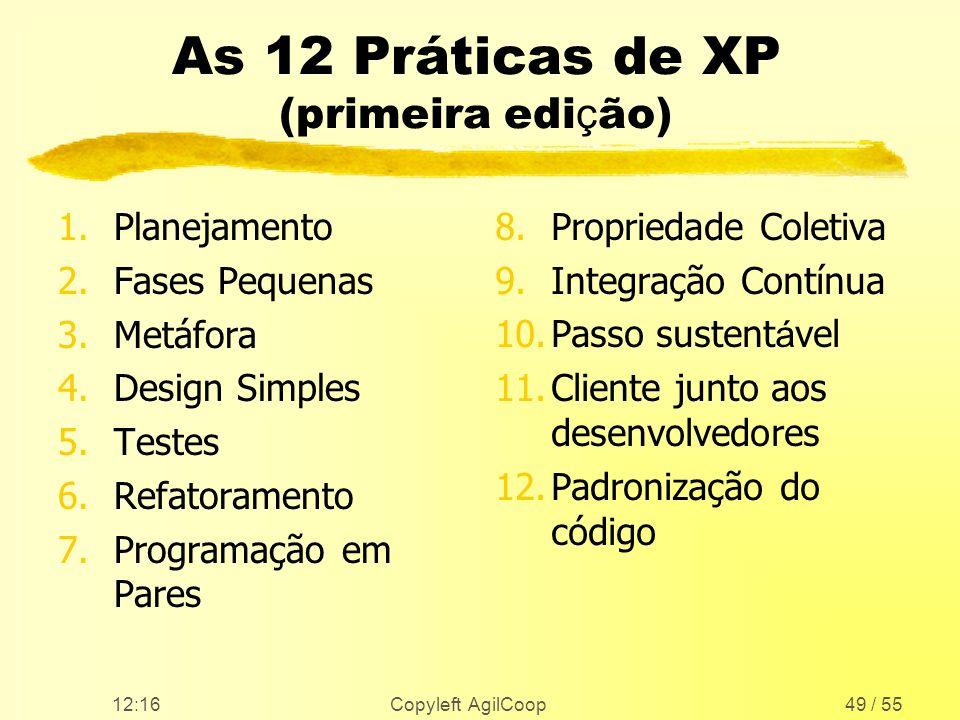 As 12 Práticas de XP (primeira edição)