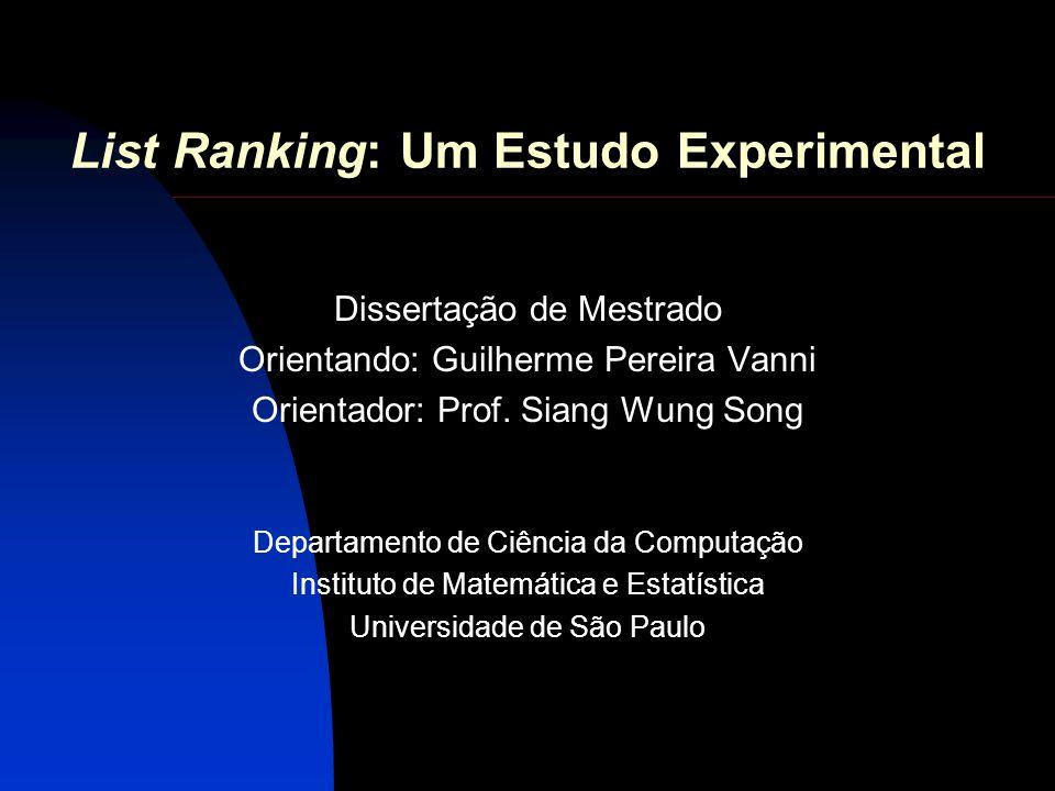 List Ranking: Um Estudo Experimental