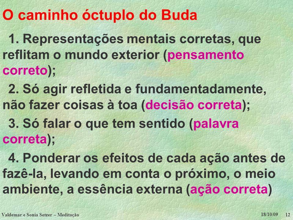 O caminho óctuplo do Buda