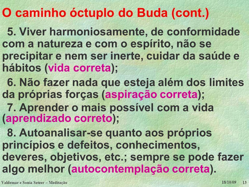 O caminho óctuplo do Buda (cont.)