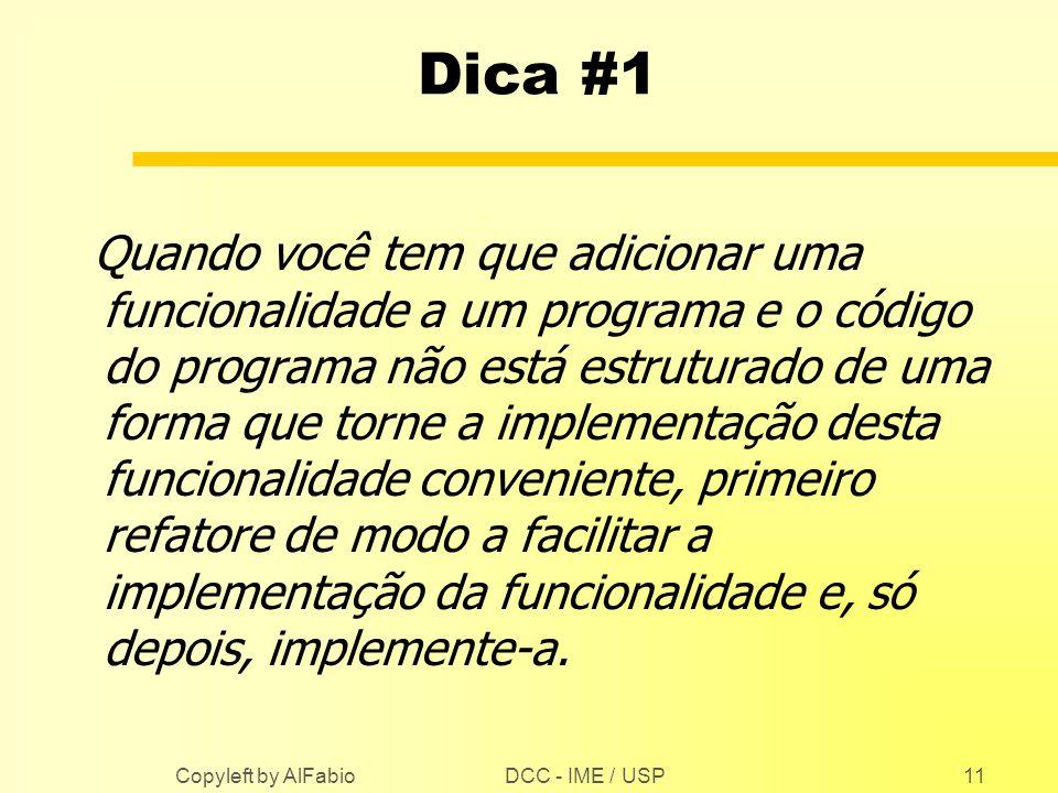Dica #1