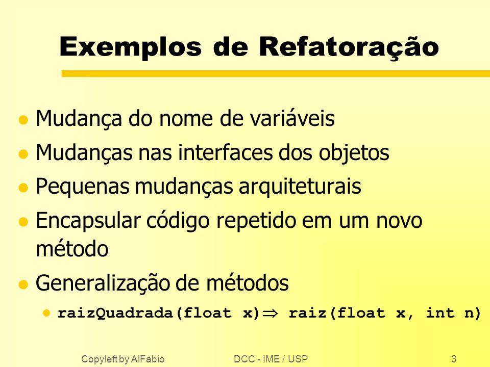 Exemplos de Refatoração