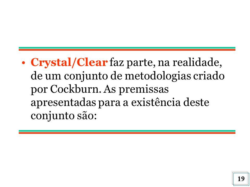 Crystal/Clear faz parte, na realidade, de um conjunto de metodologias criado por Cockburn.