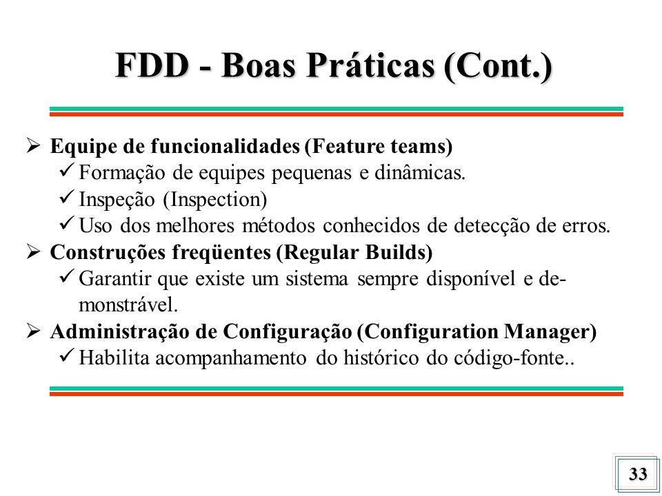 FDD - Boas Práticas (Cont.)