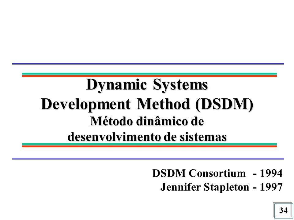 Dynamic Systems Development Method (DSDM) Método dinâmico de desenvolvimento de sistemas