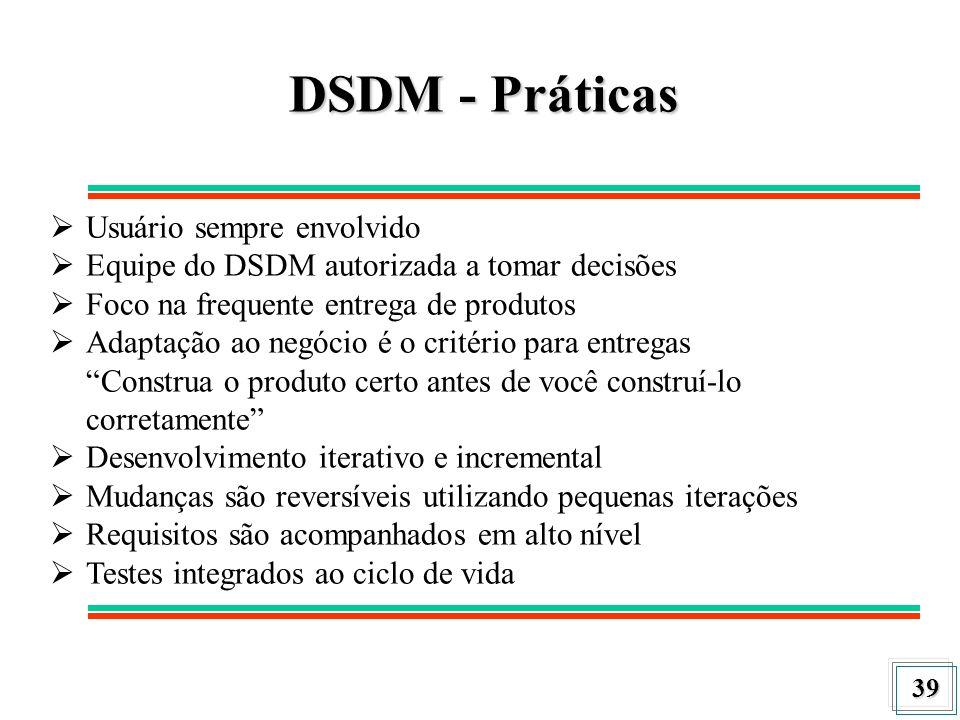 DSDM - Práticas Usuário sempre envolvido