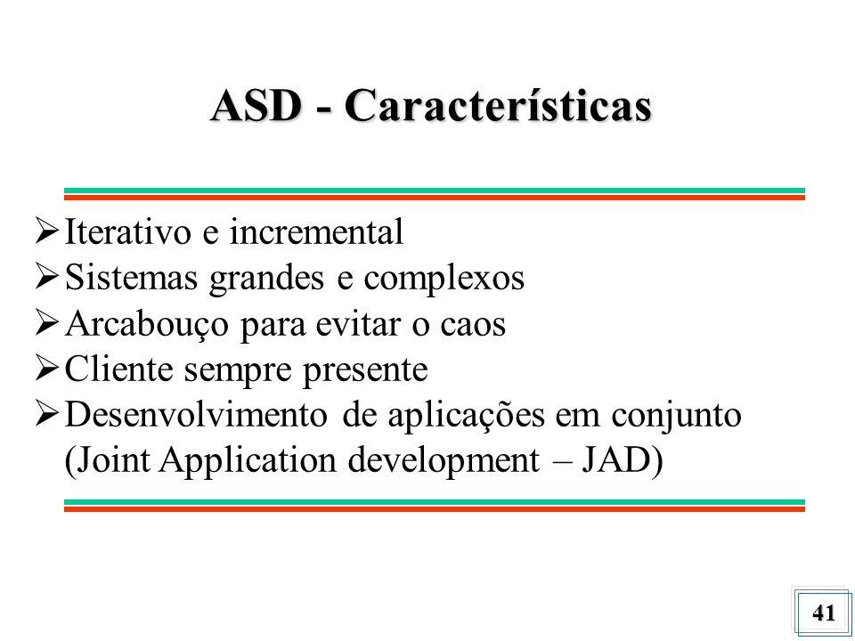 ASD - Características Iterativo e incremental