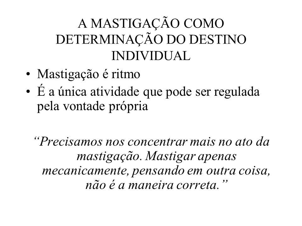 A MASTIGAÇÃO COMO DETERMINAÇÃO DO DESTINO INDIVIDUAL