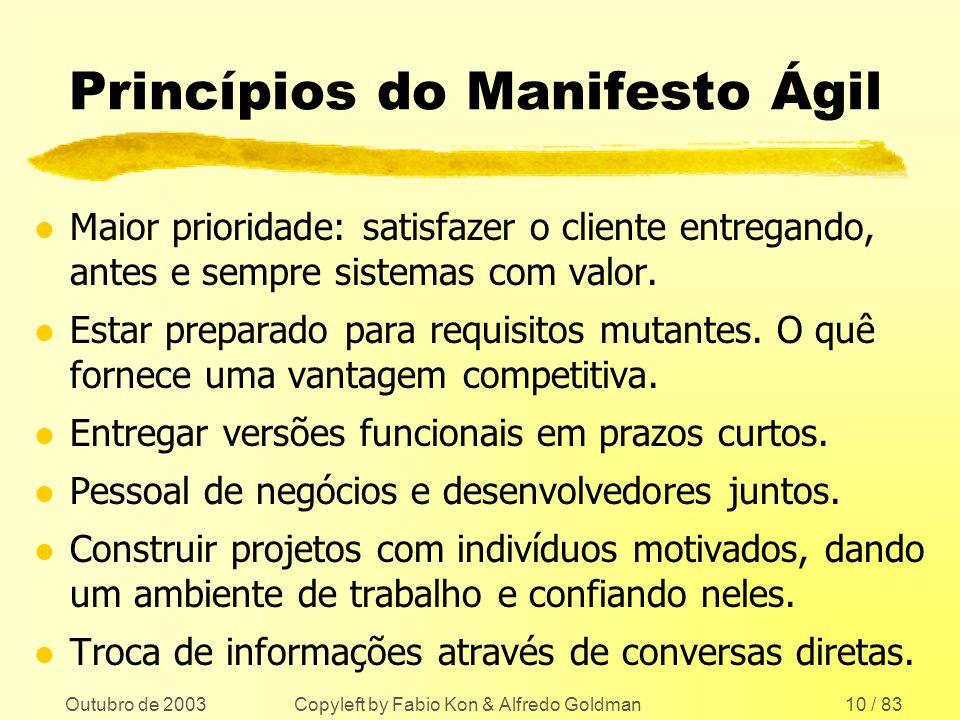Princípios do Manifesto Ágil