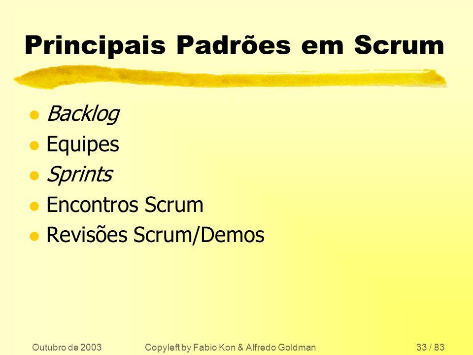 Principais Padrões em Scrum