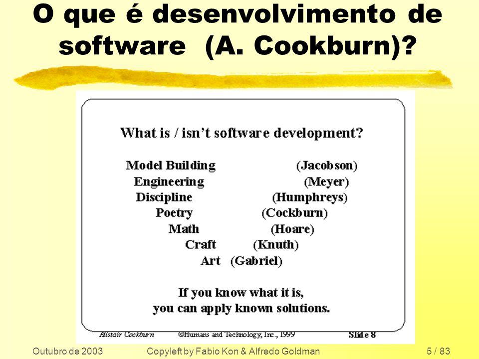 O que é desenvolvimento de software (A. Cookburn)