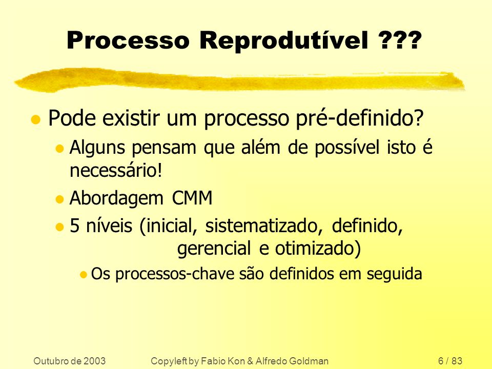 Processo Reprodutível