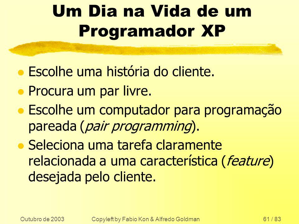 Um Dia na Vida de um Programador XP