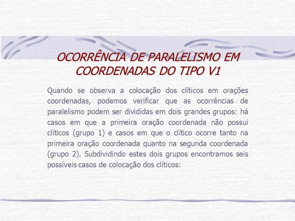 OCORRÊNCIA DE PARALELISMO EM COORDENADAS DO TIPO V1
