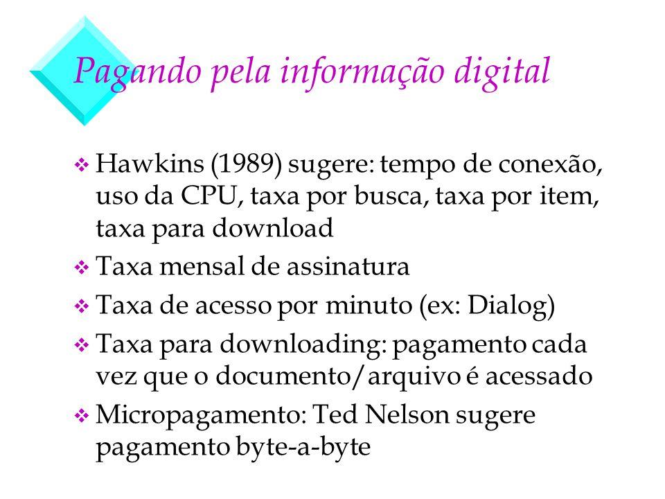 Pagando pela informação digital