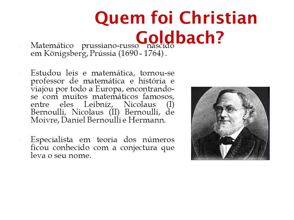 Quem foi Christian Goldbach
